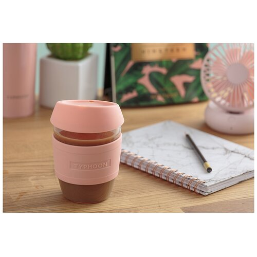 Кружка для кофе 400 мл розовая