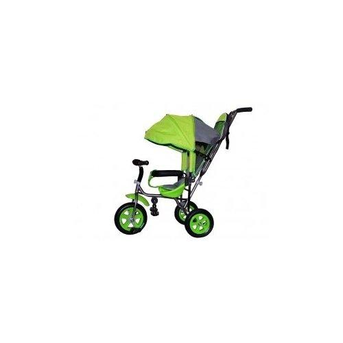 Купить Велосипед детский трехколесный с родительской ручкой Liga PC надувные колеса (салатовый), Stiony, Трехколесные велосипеды