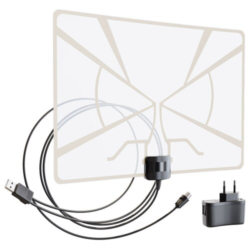 Фото - Комнатная DVB-T2 антенна РЭМО BAS-5324-DX антенна рэмо bas 2323 flat 15f