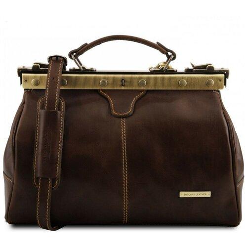 Кожаный саквояж Tuscany Leather Michelangelo TL10038 Темно-коричневый