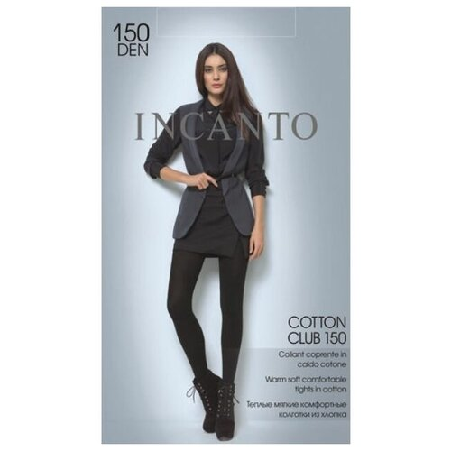 Колготки Incanto Cotton club, 150 den, размер 4-L, moka (коричневый)