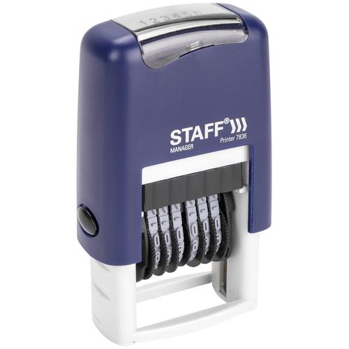 Нумератор STAFF Printer 7836, 6-разрядный