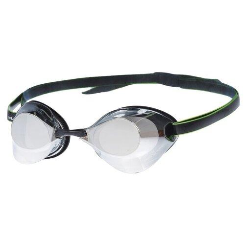 Очки для плавания стартовые Turbo Racer II Mirror, M0458 07 0 01W, цвет чёрный очки для плавания mad wave turbo racer ii black orange