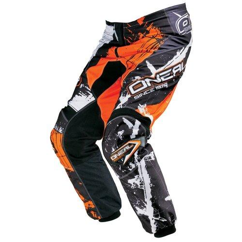 Текстильные мотобрюки O'Neal Element Shocker черный/оранжевый 24 (Размер производителя)