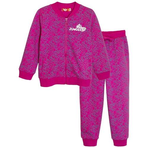 Купить 11152 Комплект (джемпер, брюки) для девочки фуксия, 110-60_Let's Go, Комплекты и форма