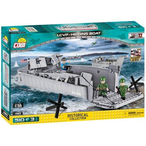 Фото - Конструктор Cobi Small Army World War II 4813 Десантный катер LCVP Higgins Boat конструктор cobi lcvp higgins boat