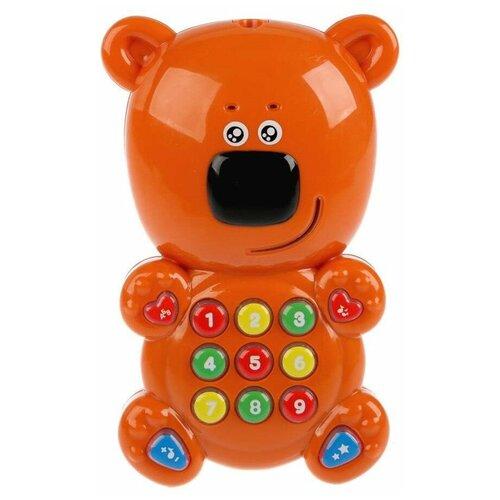 Интерактивная развивающая игрушка Умка Обучающий мультиплеер с проектором МимиМишки, коричневый