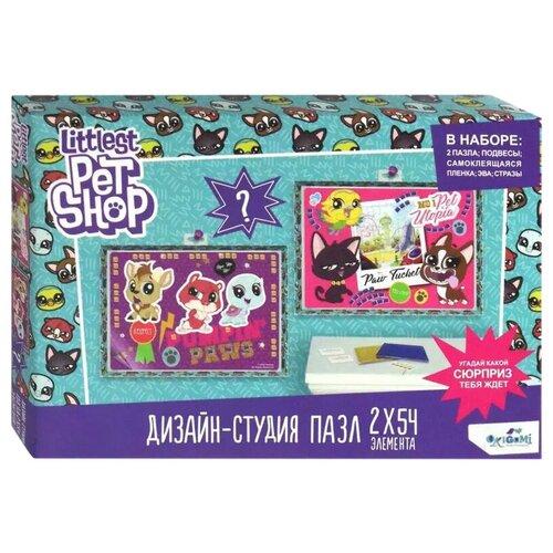 Набор пазлов Origami Littlest Pet Shop Город зверей (04421) пазл 54 эл диптих littlest pet shop город зверей