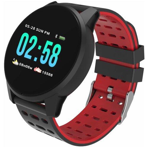 Умные часы Qumann QSW 01, black/red