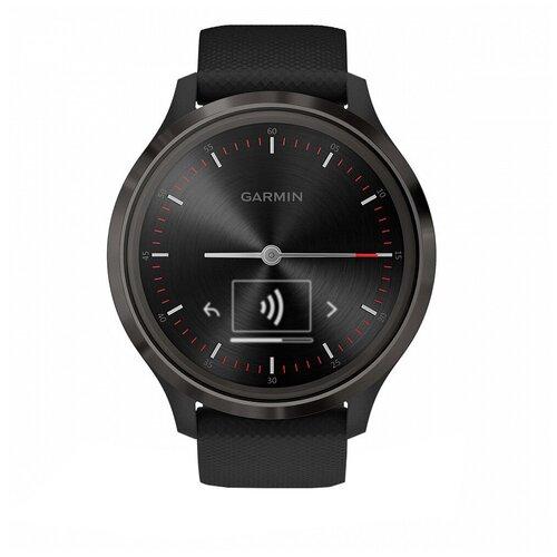 Умные часы Garmin Vivomove 3, черный умные часы garmin vivomove luxe с кожаным ремешком черный золотистый