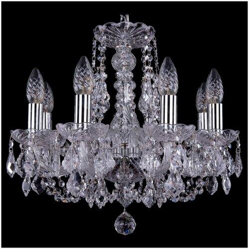 Люстра Bohemia Ivele Crystal 1406 1406/8/141/Ni/Leafs, E14, 320 Вт люстра bohemia ivele crystal 1406 1406 8 160 ni leafs e14 320 вт