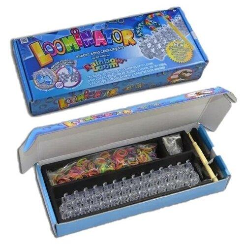 Набор для плетения браслетов из резиночек RAINBOW LOOM Луминатор (неразъёмный станок) (R0031)