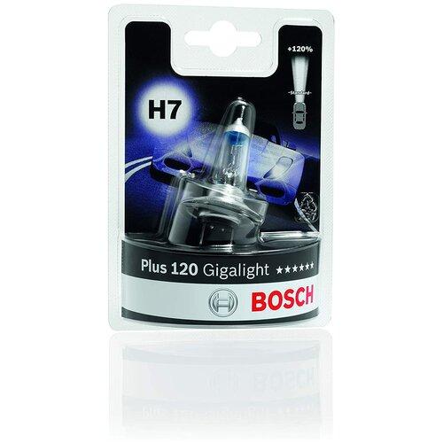 Лампа автомобильная BOSCH H7 GigaLight +120% (1987301110)
