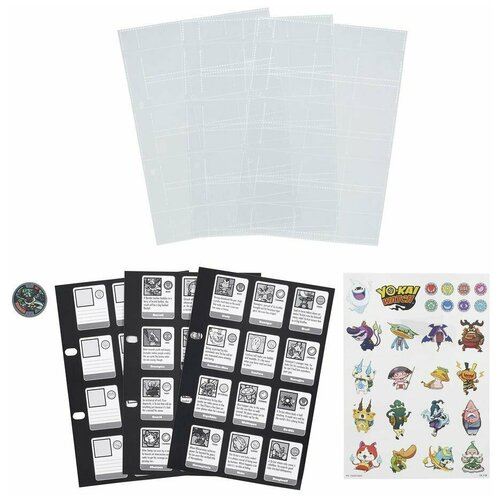 Игровой набор Yokai Watch Страницы для Альбома коллекционера B6046 игровой набор yokai watch медаль b5946