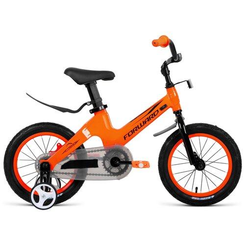 Детский велосипед FORWARD Cosmo 14 (2021) оранжевый (требует финальной сборки)