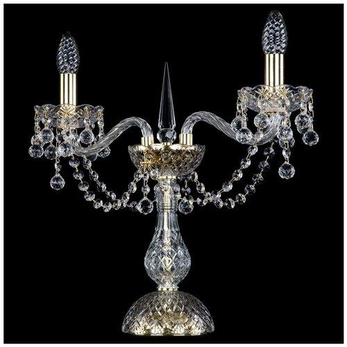 Лампа декоративная Bohemia Art Classic 12.26.2.141-37.Gd.B, E14, 80 Вт, цвет арматуры: золотой, цвет плафона/абажура: бесцветный