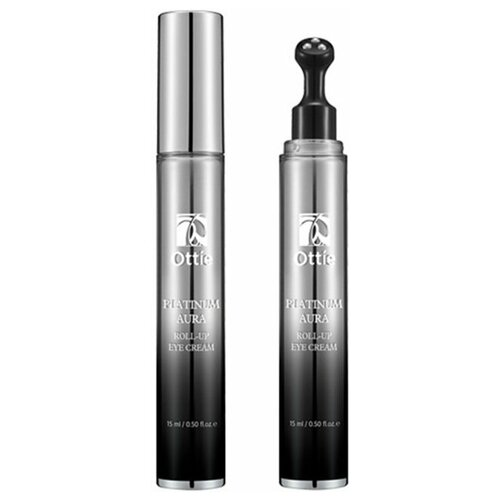 OTTIE Крем для глаз против отеков с роллером Platinum Aura Roll-Up Eye Cream, 15 мл
