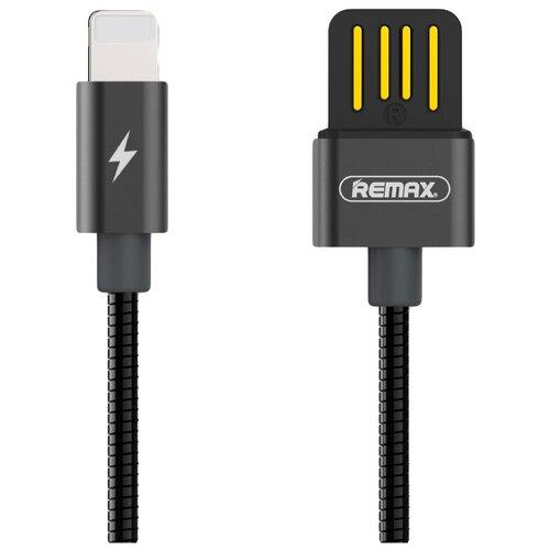 Кабель Remax Tinned Copper USB - Apple Lightning (RC-080i) 1 м, черный кабель remax kerolla usb apple lightning rc 094i 1 м белый