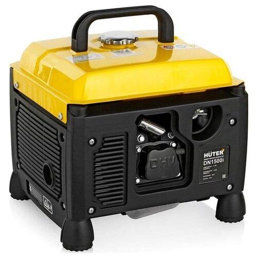 Бензиновый генератор Huter DN1500i (1100 Вт) бензиновый генератор huter dy6500lx 5000 вт