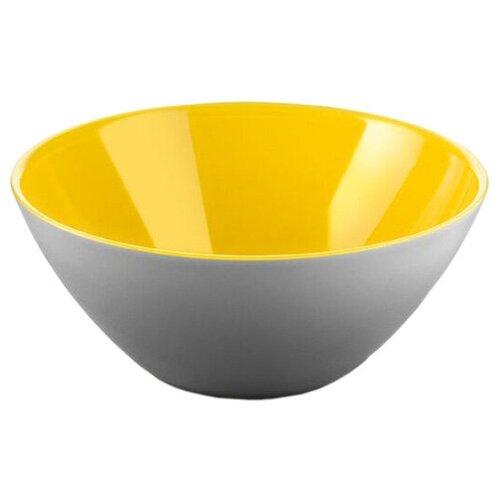 Guzzini Салатник My Fusion 20 см желтый/серый