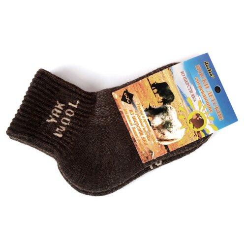 Носки Doctor детские согревающие из шерсти яка (Коричневый, 12 (размер обуви 18-20)) носки из шерсти высокие колючие носки из шерсти wsc601