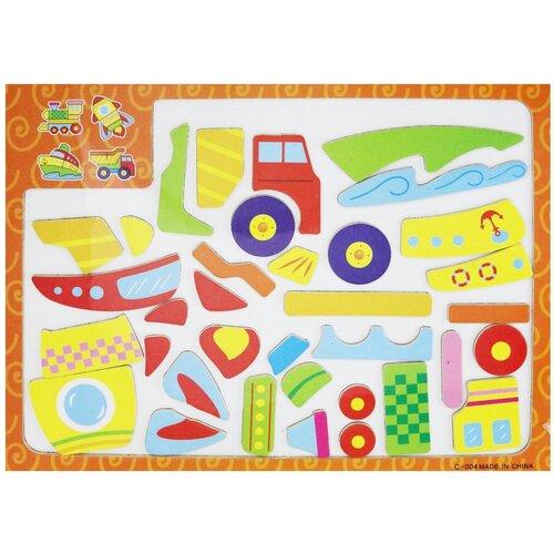 Junfa toys Мозаика магнитная Транспорт (С-004) junfa toys настольная магнитная игра 6 в 1 junfra