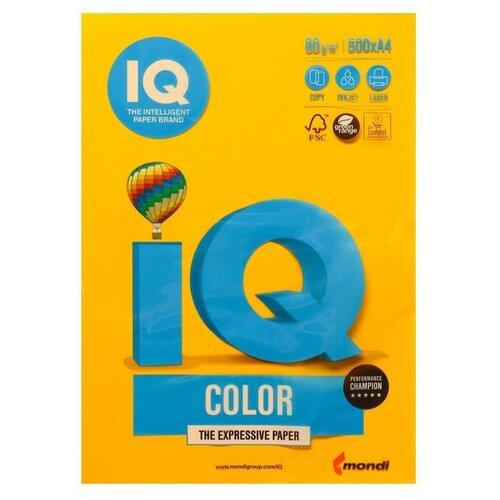 Фото - Бумага цветная А4 500л IQ COLOR, 80г/м2, желтый, SY40 1520956 бумага цветная а4 500л iq color 80г м2 желтый zg34 1520958