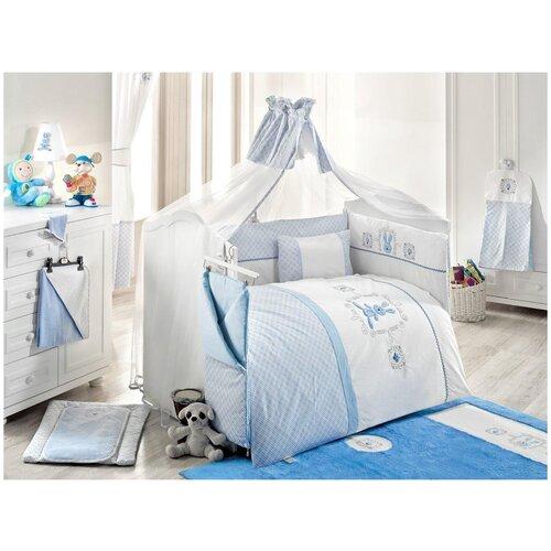 Купить Комплект Kidboo из 6 предметов серии Rabbitto (Blue), Постельное белье и комплекты