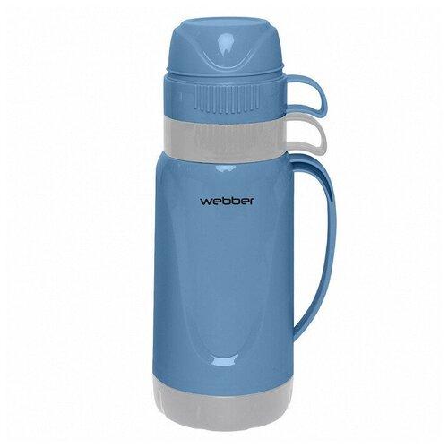 Классический термос Webber 24008/9S, 1 л синий/серый