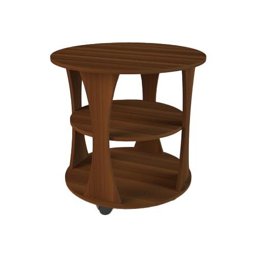 Столик журнальный Комфортная мебель СЖ-2, d: 66 см, орех