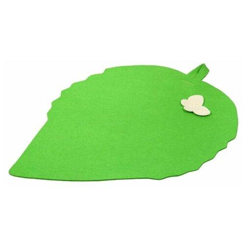 Банные штучки Коврик для сауны Лист зелeный коврик для сауны банные штучки 41002