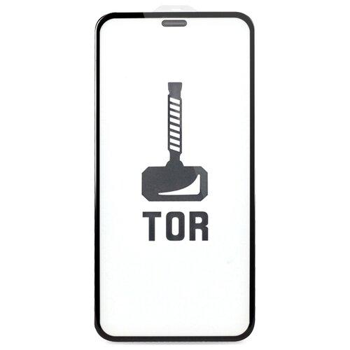 Корейское противоударное стекло для iPhone 12 и 12 Pro с Защитной сеткой на динамике / Стекло премиум класса на Эпл Айфон 12 и 12 Про / TOP Premium от 3D до 21D (черный)