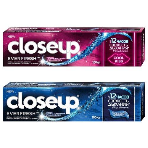 Купить Набор зубных паст CloseUp Everfresh Взрывной ментол, 100 мл + Cool Kiss, 100 мл