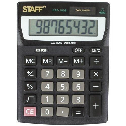Калькулятор бухгалтерский STAFF STF-1808 черный
