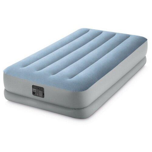 Фото - Надувная кровать INTEX 64166 RAISED COMFORT, (встроенный насос 220В), 99х191х36см кровать intex 64124 pillow rest raised bed queen встроенный насос 220в