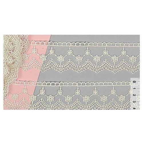 Купить Кружево на сетке TTR.1053A шир.45мм цв.кремовый уп.9, 5м, TBY, Декоративные элементы