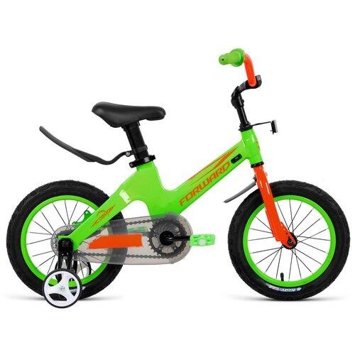 Детский велосипед FORWARD Cosmo 14 (2021) зеленый (требует финальной сборки)