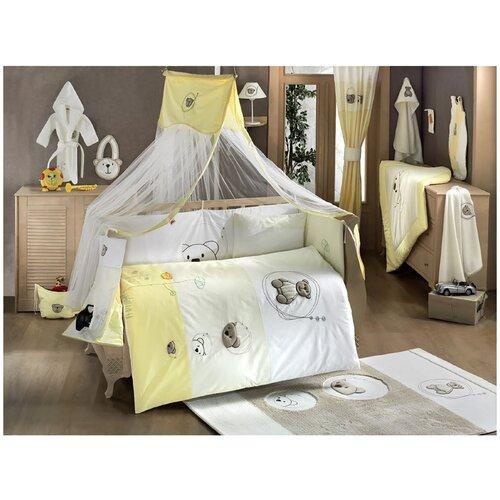 Купить Комплект Kidboo из 6 предметов серии Little Bear (Beige-Yellow), Постельное белье и комплекты