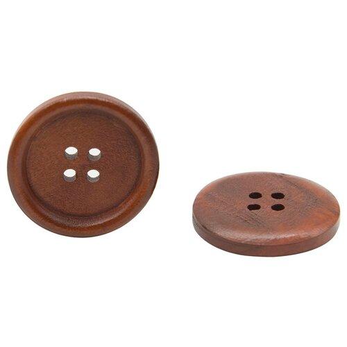 Купить W01 Пуговица 48L (30мм) 4пр. (Brown1 (коричневый1)), 24 шт, Astra & Craft, Пуговицы