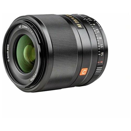 Фото - Объектив Viltrox AF 23mm f/1.4 Fujifilm X черный объектив viltrox af 23mm f 1 4 ef m серебристый