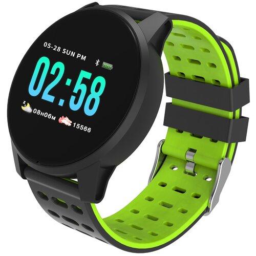 Умные часы Qumann QSW 01, black/green