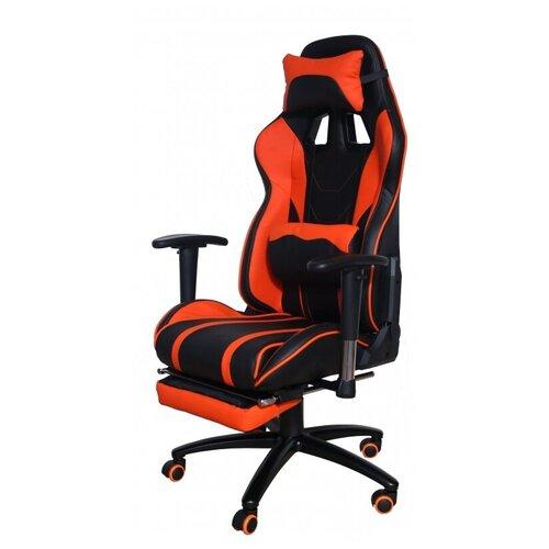 Компьютерное кресло Меб-фф MFG-6016 игровое, обивка: искусственная кожа, цвет: оранжевый/черный