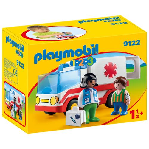 Конструктор Playmobil 1-2-3 9122 Машина скорой помощи