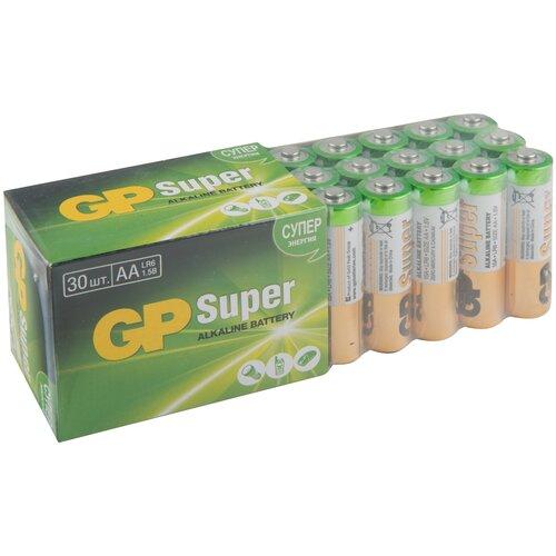 Фото - Батарейка GP Super Alkaline AA, 30 шт. батарейка energizer max plus aa 4 шт