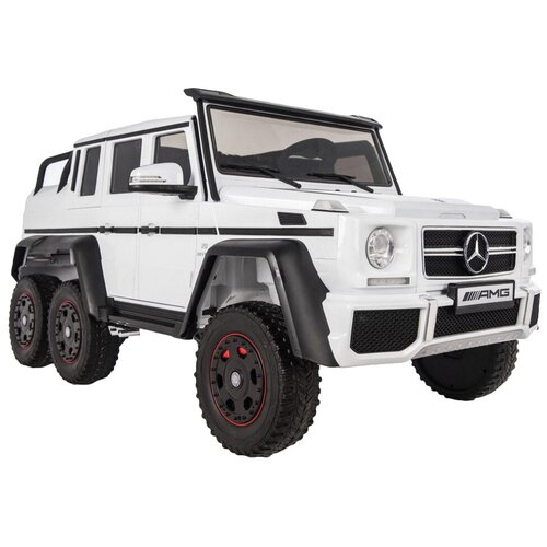 Купить RiverToys Автомобиль Mercedes-Benz G63 AMG 4 WD X555XX, white, Электромобили