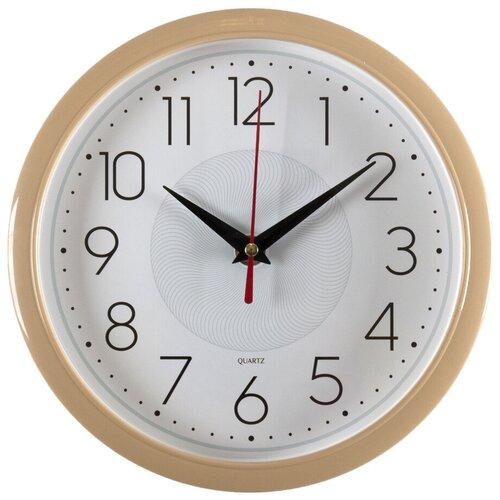 Настенные часы Бюрократ WALLC-R83P белый/бежевый (wallc-r83p22/ivory)