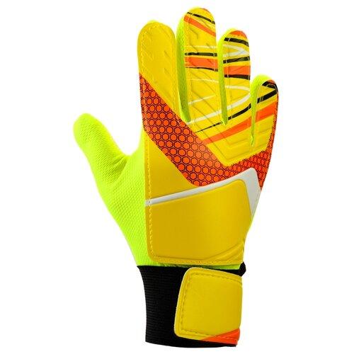 Перчатки вратарские, размер 5, цвет желтый 3912370