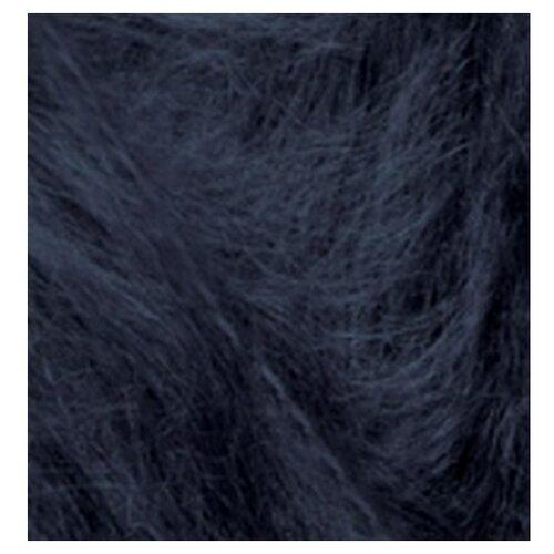 Купить Пряжа для вязания Ализе Mohair classic NEW (25% мохер, 24% шерсть, 51% акрил) 5х100г/200м цв.395 т.синий, Alize