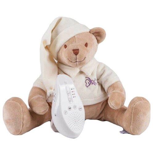 Фото - Интерактивная развивающая игрушка Drёma BabyDou Мишка с белым и розовым шумом, бежевый комфортеры drema babydou медведь с белым и розовым шумом 20 см