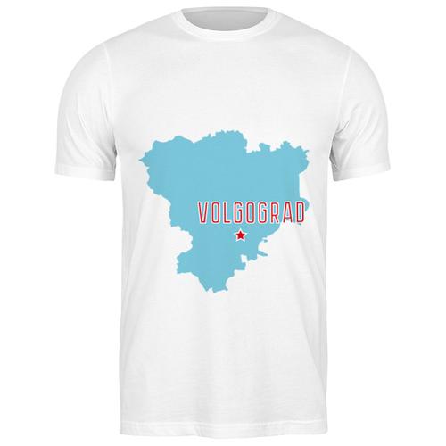 Футболка классическая Волгоградская область. Волгоград #2192039 (цвет: БЕЛЫЙ, пол: МУЖ, качество: ЭКОНОМ, размер: S)